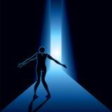 Okaleczający mężczyzna w korytarzu Zdjęcia Stock