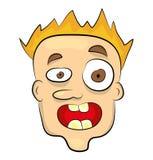 Okaleczająca twarzy ilustracja royalty ilustracja