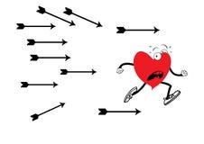 Okaleczający serce Ilustracja Wektor