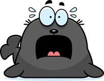 Okaleczająca kreskówki foka Zdjęcie Stock
