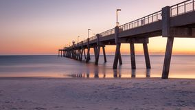 Okaloosa Fishing Pier at Sunset Florida Stock Photos