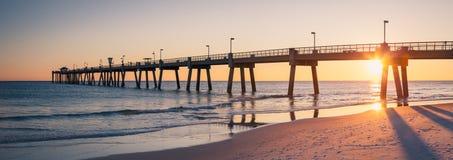 Okaloosa połowu mola fortu Walton plaża Floryda obraz royalty free