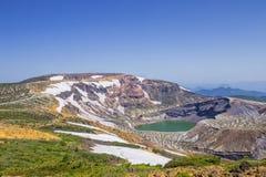 Okama湖在皂市,日本 免版税库存图片