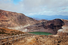 Okama Crater. Zao-machi in Japan Stock Image