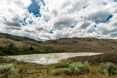 Okanagan谷的斑点湖 库存照片