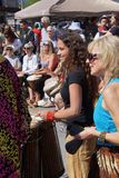The Okanagan Drum group performs Stock Photo