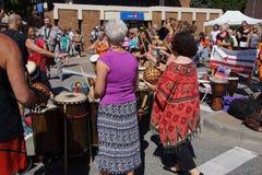 The Okanagan Drum group performs Stock Photography