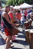 The Okanagan Drum group performs Stock Photos