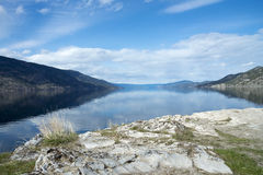 Okanagan jezioro, Kelowna, Pauls Grobowcowy ślad Fotografia Royalty Free