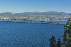 Okanagan Lake Bridge Kelowna BC Canada Royalty Free Stock Images