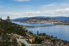 Okanagan Lake Bridge Kelowna BC Canada Stock Photography