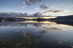 Okanagan Lake at dark Royalty Free Stock Photos