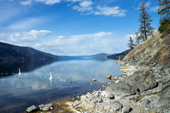 Okanagan Lake , Kelowna, Pauls Tomb Trail. Okanagan lake Kelowna British Columbia Canada on Pauls Tomb Trail Royalty Free Stock Image