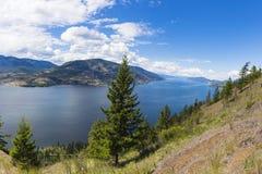 Okanagan Lake Panorama Kelowna BC Canada Stock Photography