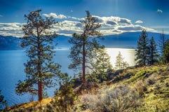Okanagan Lake Peachland British Columbia Canada. View of Okanagan Lake Peachland British Columbia Canada near Kelowna Royalty Free Stock Images