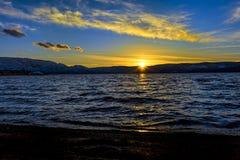 Okanagan Lake Sunset Kelowna British Columbia Canada Stock Photography