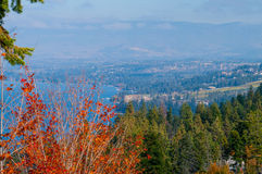 Okanagan Lake and Surrounding hills Royalty Free Stock Photography