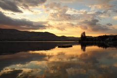 Okanagan, Osoyoos Lake Dawn Stock Photography