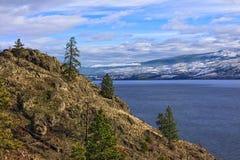 Okanagan sjö Kelowna British Columbia Kanada Arkivfoton
