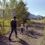 okanagan son för brittisk Kanada columbia fader Royaltyfri Fotografi