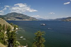 Okanagan summer boating playground Stock Photo