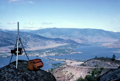 Okanagan Valley British Columbia Canada. Postcard shoot of Osoyoos, nestled amongst orchards and vinyards of the south Okanagan valley, British Columbia, Canada stock images