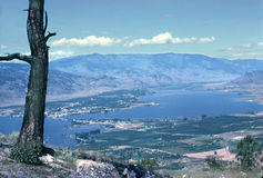 Okanagan Valley British Columbia Canada. Osoyoo, nestled amongst the orchards and vinyards of the south Okanagan valley, British Columbia, Canada royalty free stock photos