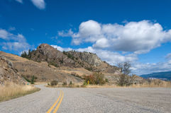 Okanagan Valley roads. A road leads to a major vacation destination for those flocking to the Okanagan Valley, and is one of those rare cities where unsurpassed Stock Images