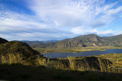 Okanagan Valley. A view of the Okanagan Valley showing Osoyoos Lake in British Columbia, Canada and the agricultural land surrounding the lake which is known for Royalty Free Stock Photos