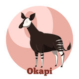 Okapi de bande dessinée d'ABC illustration de vecteur