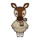 Okapi wearing poncho and scarf Stock Photos