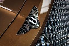 Okapturza ornament wielki luksusowy skrzyżowanie SUV Bentley Bentayga, 2016 Obraz Royalty Free