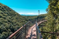 Okatse Canyon, hiking trail above the canyon, Zeda Gordi, Georgia stock image