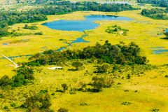 Okavango Delta aerial view Stock Photos