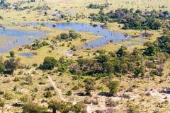 Okavango Delta aerial view Royalty Free Stock Image