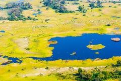Okavango Delta aerial view Stock Photography