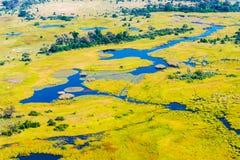 Okavango Delta aerial view Royalty Free Stock Photos