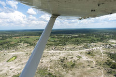 Okavango Delta viewed from a plane. The Okavango Delta viewed from a plane. The views are astonishing, lush green as far as the eye can see, water and abundant Royalty Free Stock Photos