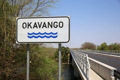 Okavango River. Bridge over Okavango River. Caprivi Strip. Namibia Royalty Free Stock Images