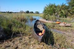 Okavango Tourist Mokoros Stock Images