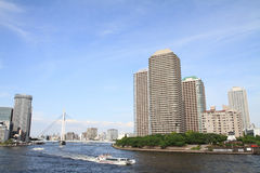 Okawabata river city 21 in Tokyo Stock Photography