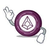 Okay Augur coin character cartoon. Vector illustration Royalty Free Stock Photo