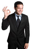 Okay Businessman. Professional businessman with okay sign Stock Image