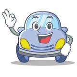 Okay cute car character cartoon Stock Photography