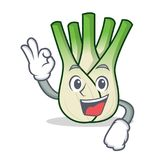 Okay fennel character cartoon style. Vector illustration Royalty Free Stock Images