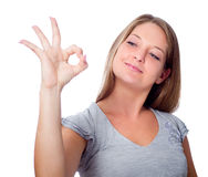 Okay gesture Stock Image