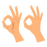 Okay gesture, agree or perfect symbol Royalty Free Stock Photo