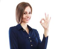 Okay gesture Royalty Free Stock Image