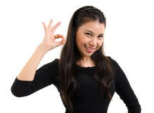 Okay hand sign Stock Photo