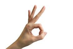 Okay oder Handzeichen schlagend Lizenzfreie Stockbilder